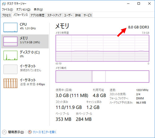 Windows Memory (before)