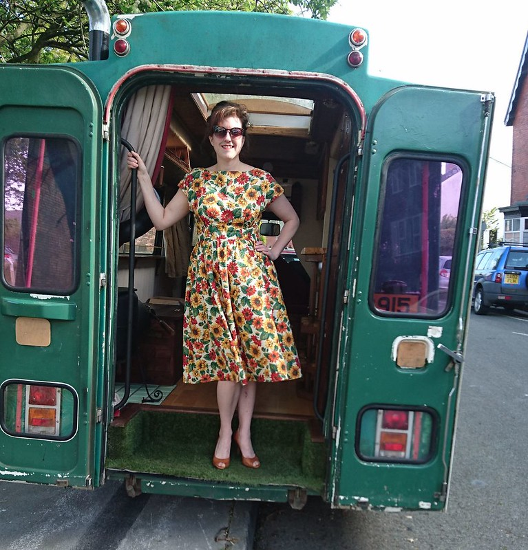 by hand london dress with gathered skirt