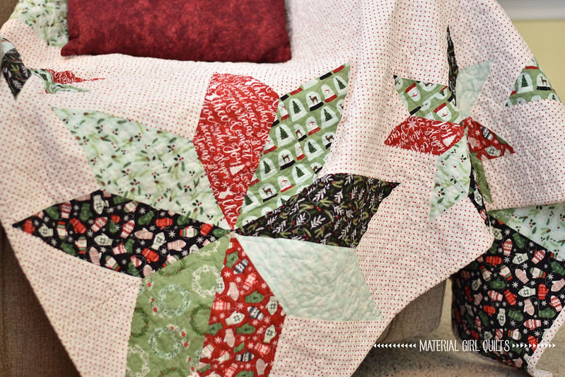 Star of Wonder Quilt made with Comfort & Joy fabric from Riley Blake Designs
