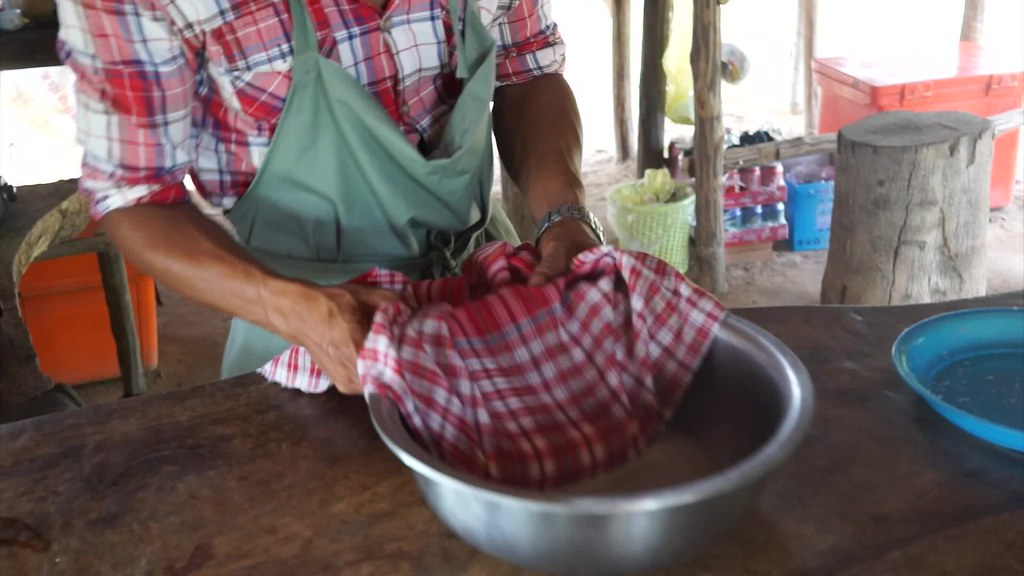 Making Coconut Milk in Kampot