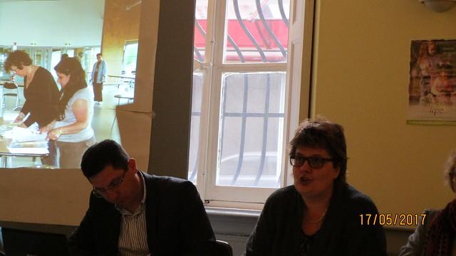 Congrès départemental FCPE Vosges à Neufchâteau : Marie Claude Brunesaux et Mustafa Ozcelik