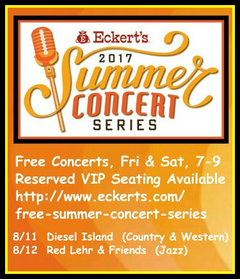 Eckert's Summer Concerts 8-11, 8-12-17