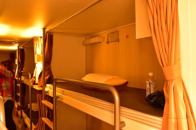 橘丸 特二等船室の二段ベッド