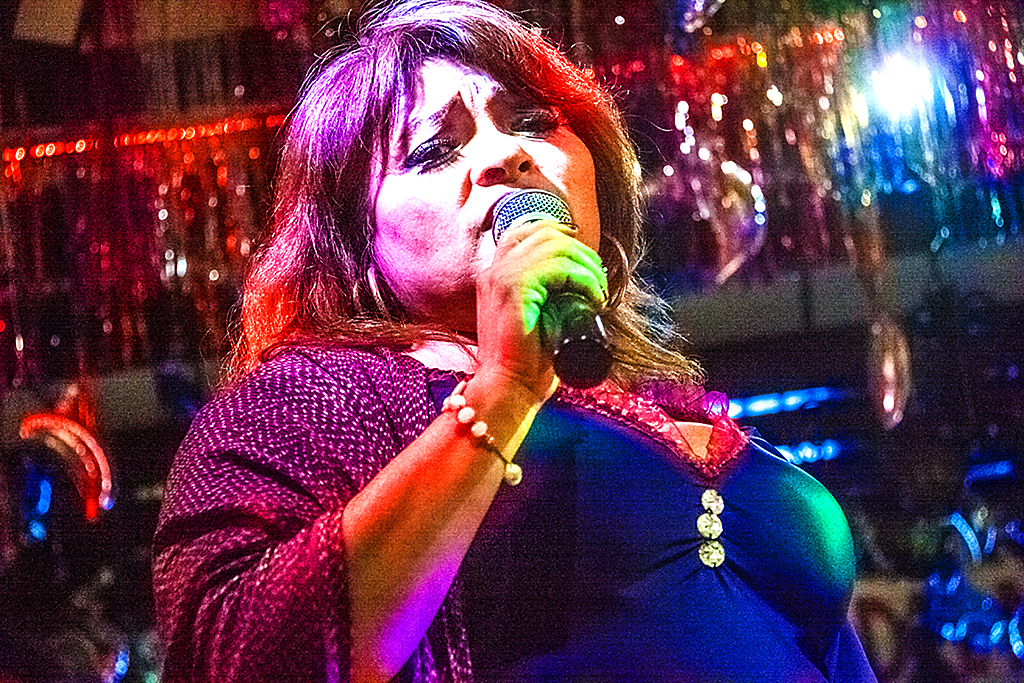 Singer in nightclub off Garibaldi Square--Mexico City 2
