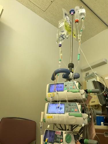 現在の点滴の状態(急性骨髄性白血病 臍帯血移植)
