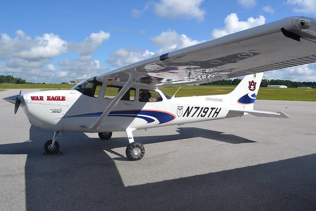 A Cessna Skyhawk 172 airplane.