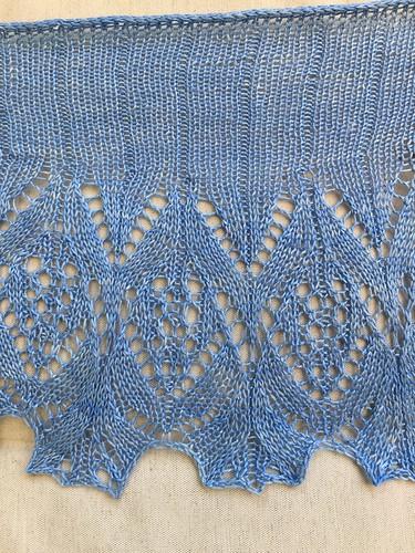 blue handknits