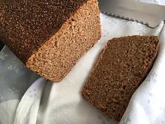 Wholemeal loaf on rye starter