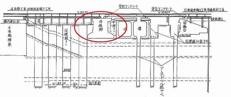 銀座駅の階段がずれているのは数寄屋橋の橋脚がそこに埋まっているから (12)
