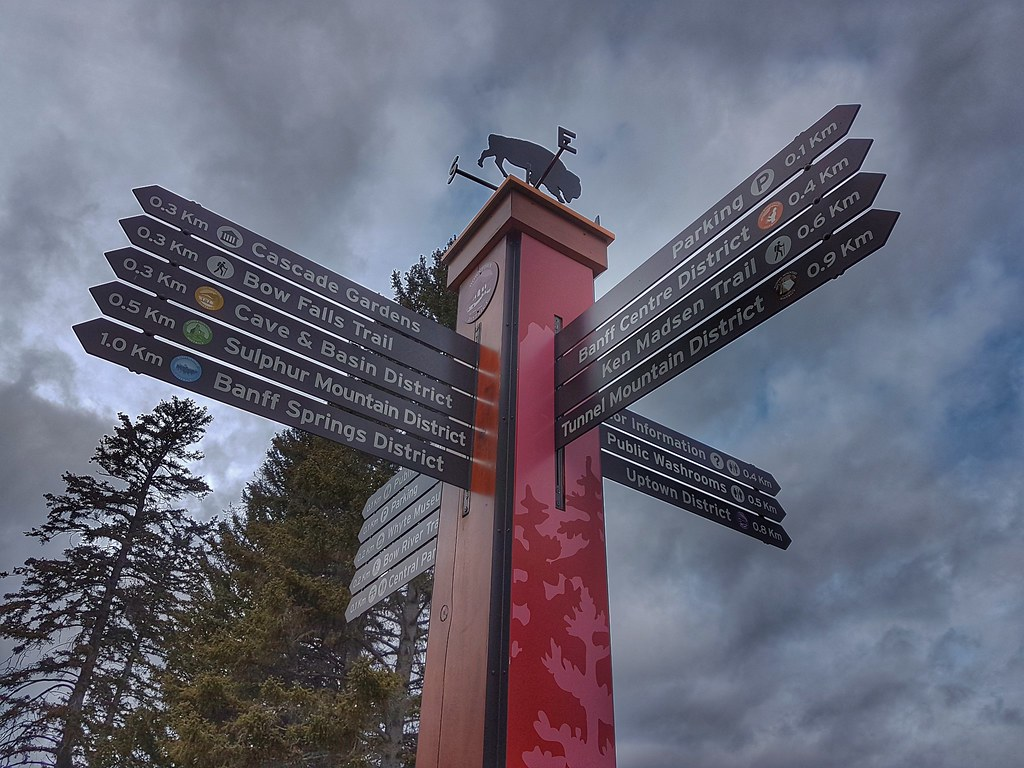 Banff Sign Post Morning Walk
