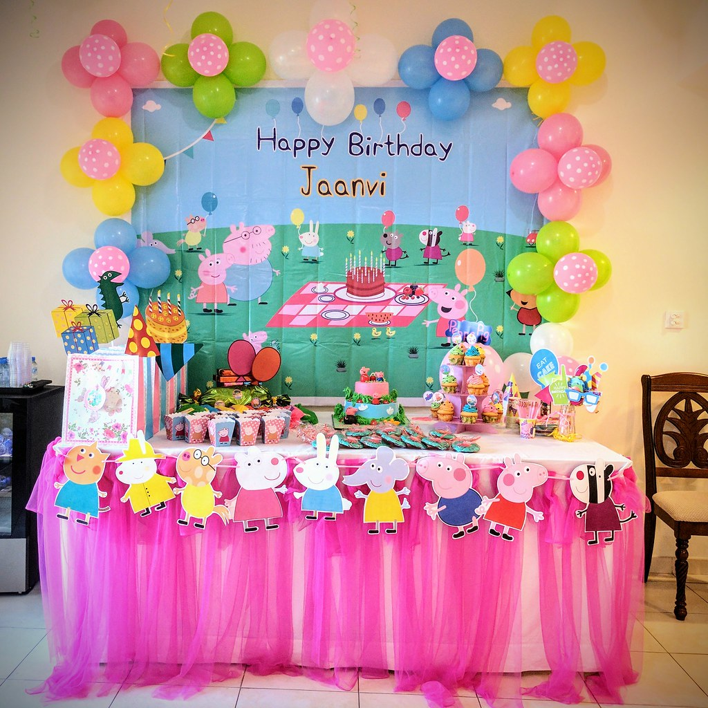 Theme Birthday Party Peppa Pig Theme Birthday Party Decor Flickr
