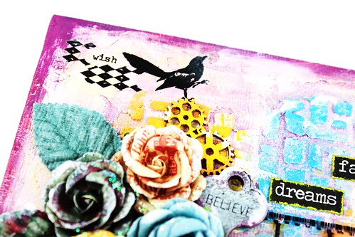 Meihsia Liu Simply Paper Crafts Mixed Media Canvas Simon Ssays Stamp Prima Flowers Texture 2