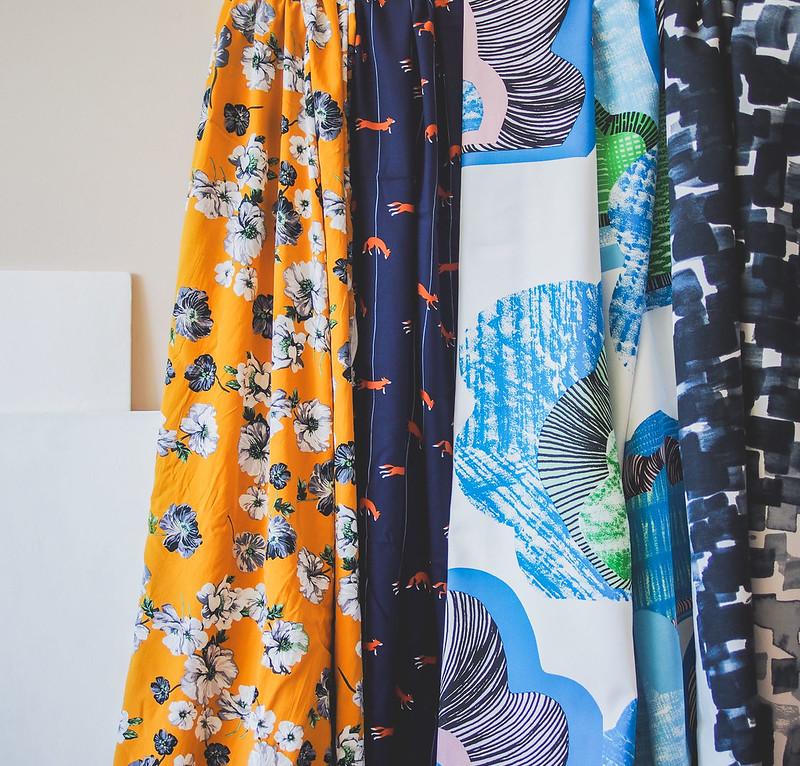 Colourful fabric prints