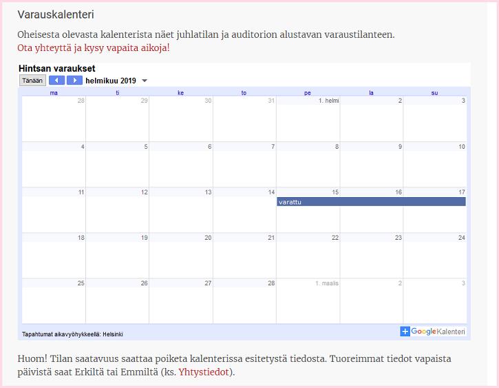 kalenteritaas