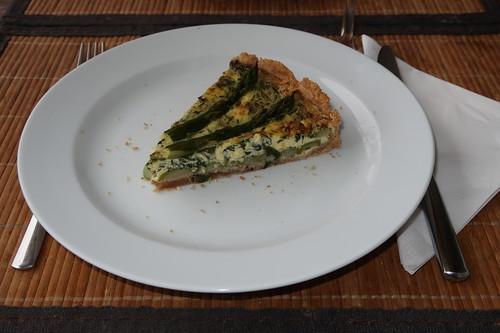 Grüner Spargel Quiche (mein 3. Stück)