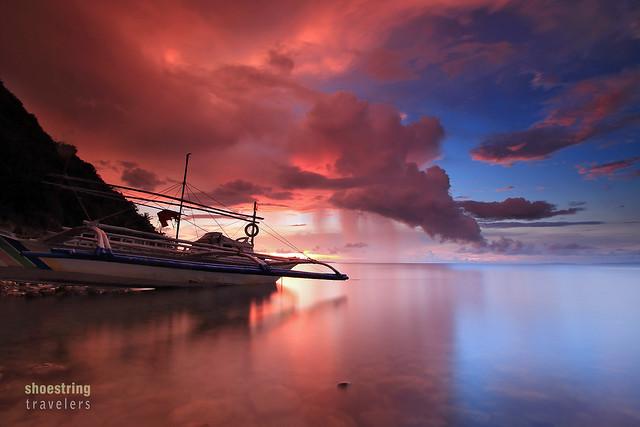 sunset view near Malalison Blue Lagoon Beach Resort