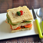 Easy Veg Sandwich Recipe - Simple Indian bread sandwich