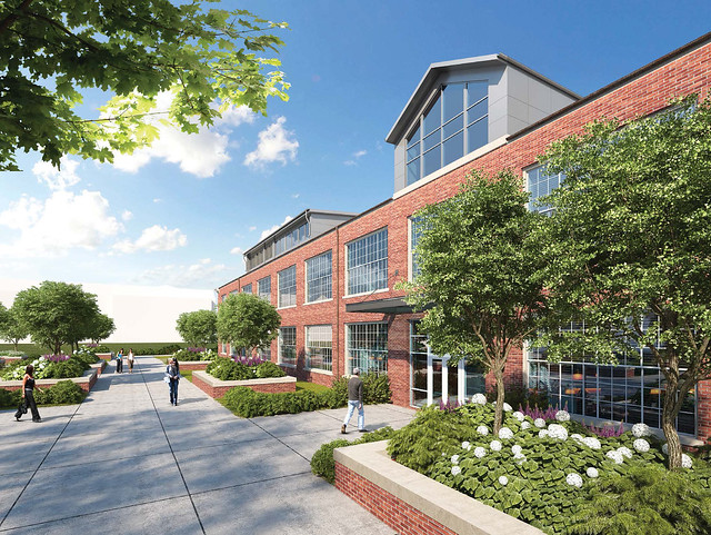 This artist's rendering shows the renovated Gavin Engineering Research Laboratory.