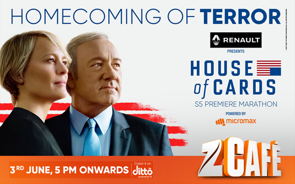 House of Cards Season 5 Zee Cafe
