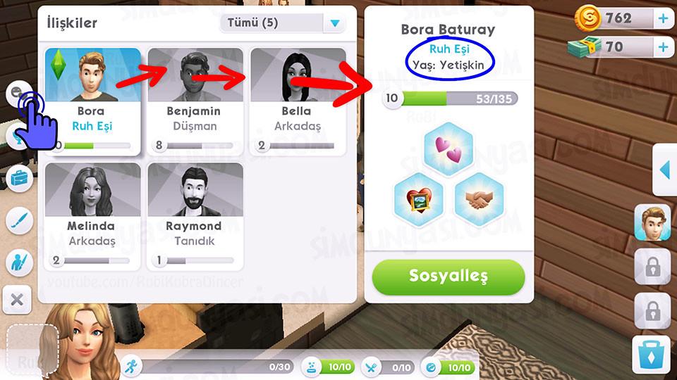 The Sims Mobile Relationship Soulmates İlişkiler Ruh Eşi