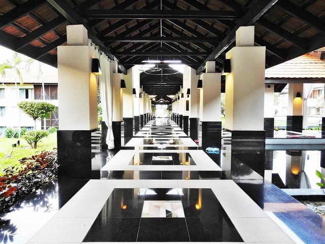 Marble Tiled Corridor