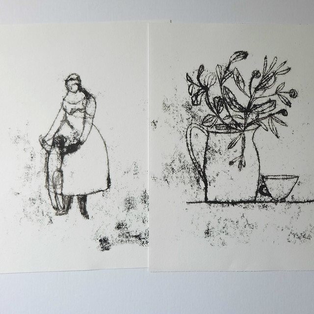 monoprint drawings