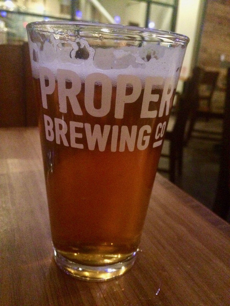 Proper Brewing Co. Beer Glass