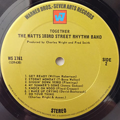 THE WATTS 103RD STREET RHYTHM BAND:TOGETHER(LABEL SIDE-B)