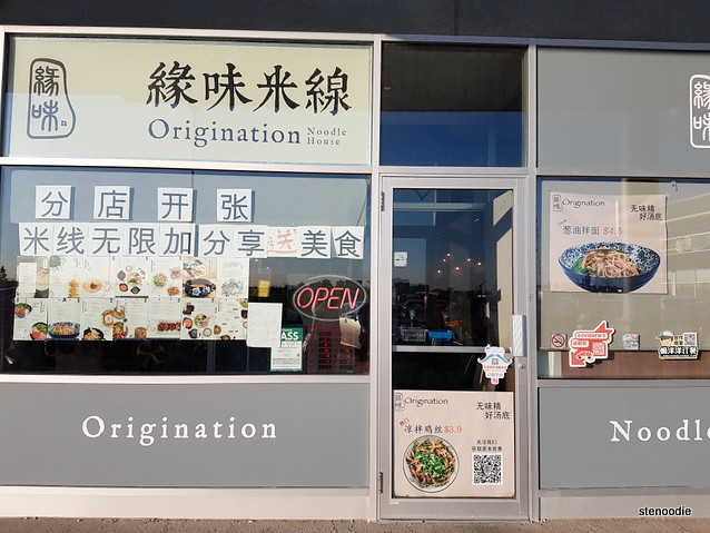 Origination Noodle House storefront