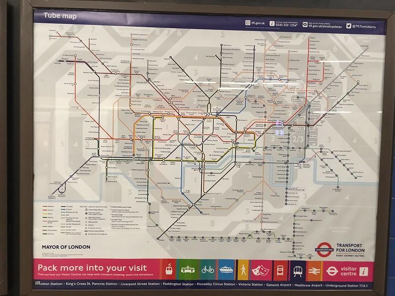 May 2017 Tube map, poster