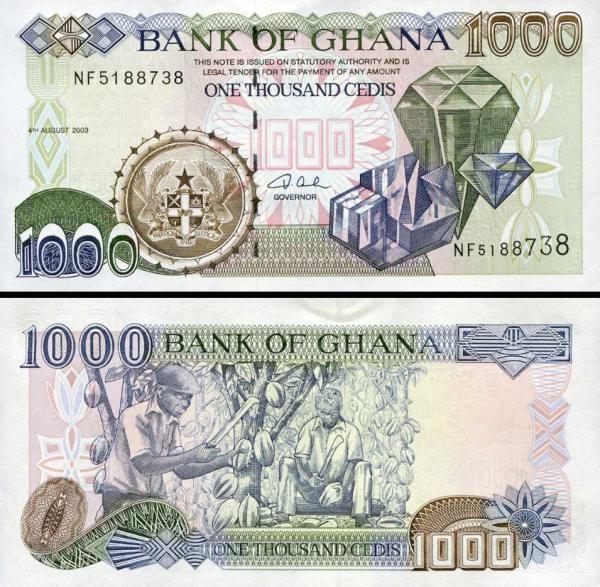 1000 Cedis Ghana 2003, P32i