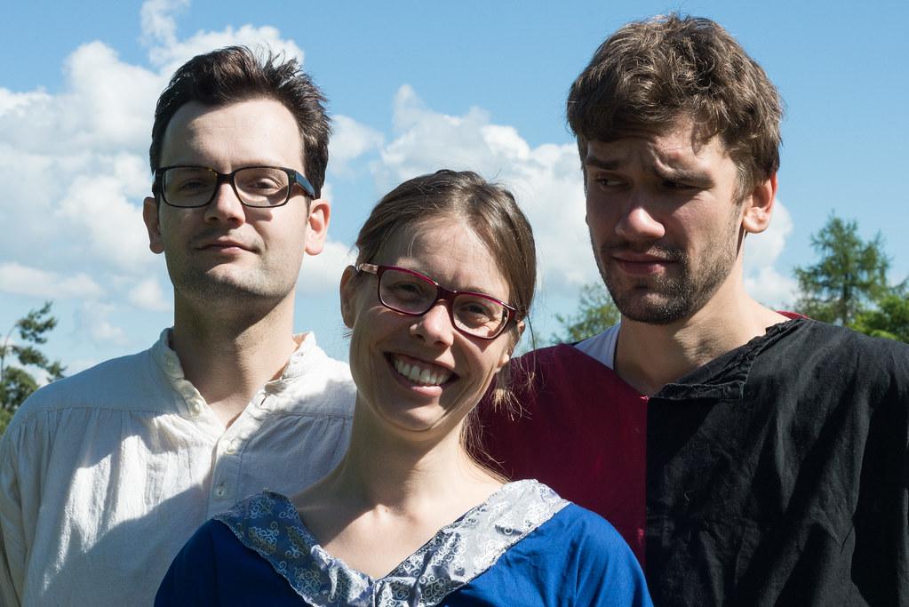 Die drei potenziellen Thronfolger John, Mathilda und Richard