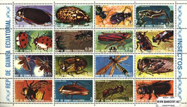 Známky Rovníková Guinea 1978 Hmyz, razítkovaná séria