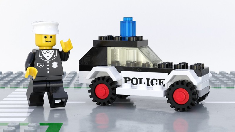 6600 Police Patrol, a Fun Render of Old Lego