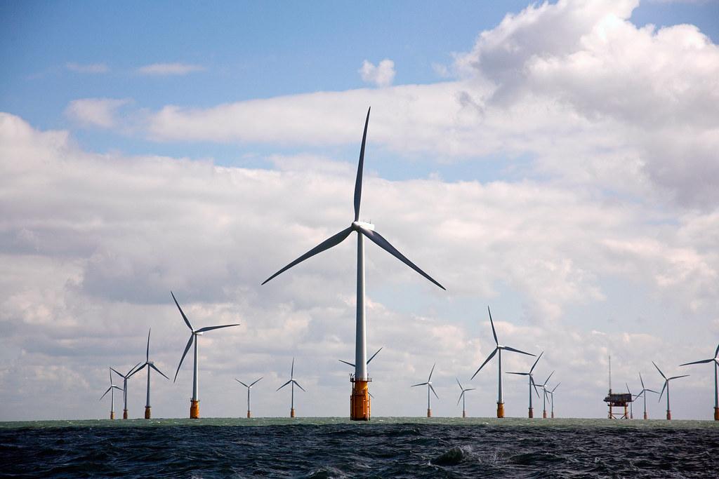 離岸風機示意圖。此為英格蘭塞內特外海風機,Vattenfall公司提供。(CC BY-NC-ND 2.0)
