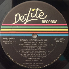 THE CROWN HEIGHTS AFFAIR:DREAMING A DREAM(LABEL SIDE-A)