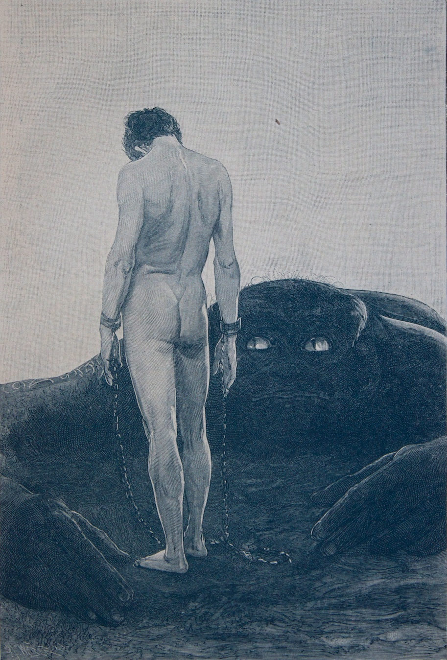 Sascha Schneider - A Feeling of Dependence, 1920 (version 2)