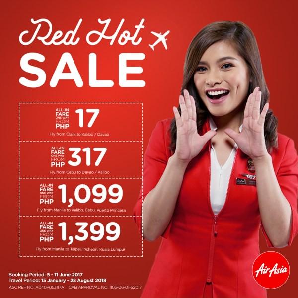 AirAsia Red Hot Sale June 2017