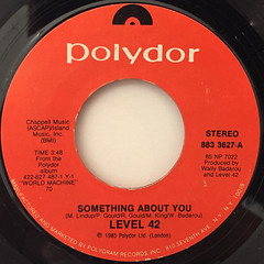LEVEL 42:SOMETHING ABOUT YOU(LABEL SIDE-A)