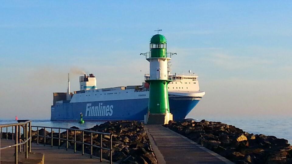 morgens in Warnemünde an der Ostsee