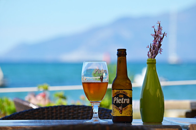 Slow travel, drinking, chestnut beer, Corsica