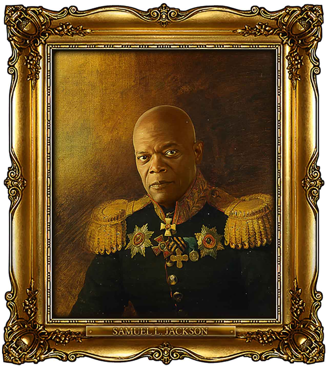 Artist Turns Famous Actors Into Russian Generals - Samuel L. Jackson