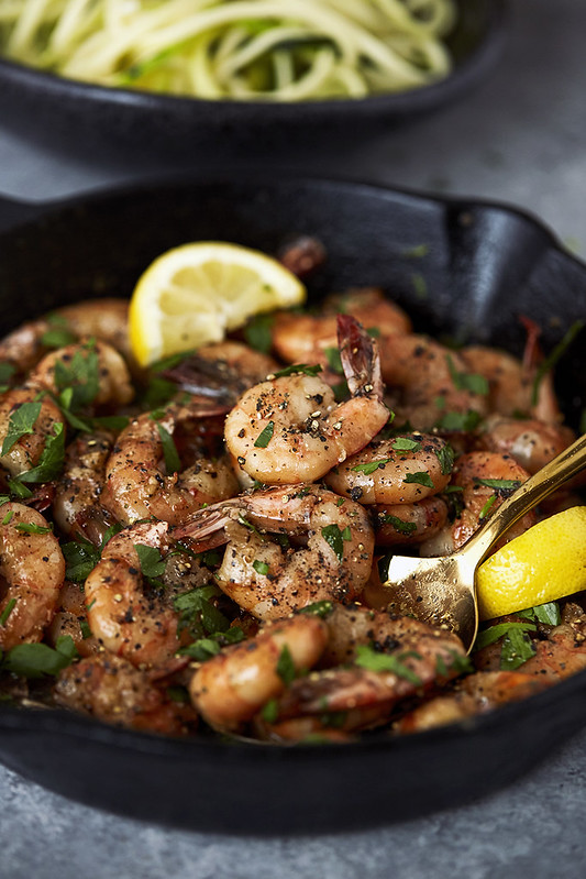 Lemon Garlic Black Pepper Shrimp