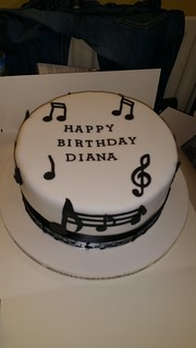 Musical note themed birthday cake. | by platypus1974