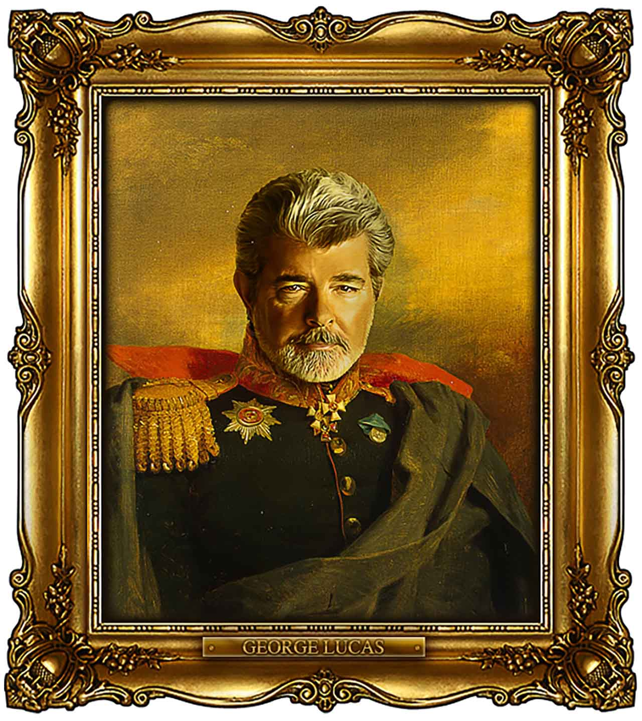 Artist Turns Famous Actors Into Russian Generals - George Lucas
