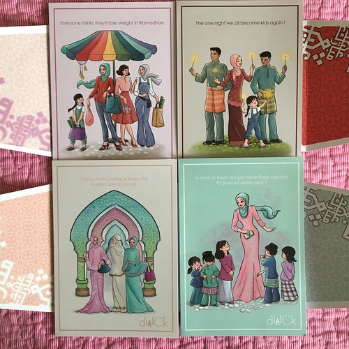 Duck raya cards & money packet