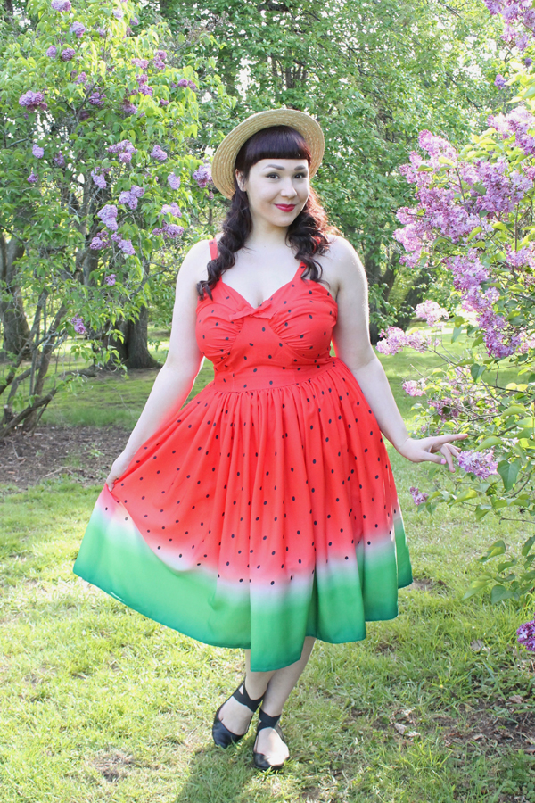 unique vintage watermelon dress