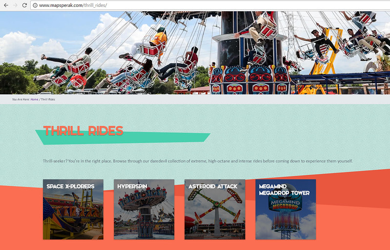 maps thrill rides