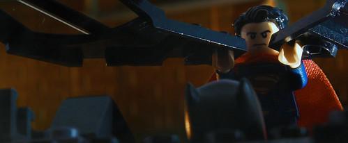 The Do You Bleed scene from Batman vs Superman in Lego