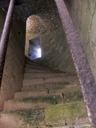Staircase in the Jumieges Abbey Ruins in France